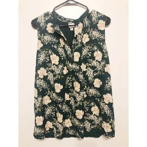 A New Day Floral Tank // XL